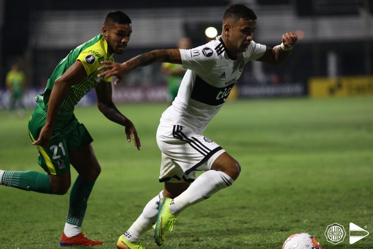 Olimpia jugó contra Defensa y Justicia en Para Uno un encuentro de la Libertadores 2020. GENTILEZA