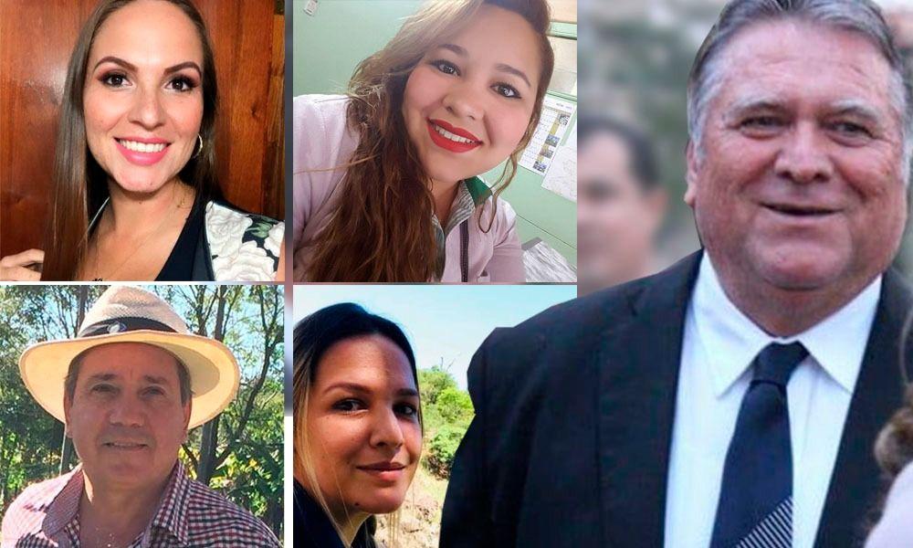 Elida Ríos Núñez (hija), Marta Ríos (sobrina), Carlos Benítez Bóveda (cuñado), Fabiola Núñez Medina (sobrina), todos con vínculo de parentesco con el gobernador Alejo Ríos || Facebook